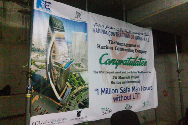 1 Million Safe Man Hours with LTI celebrated at JW-Marriott